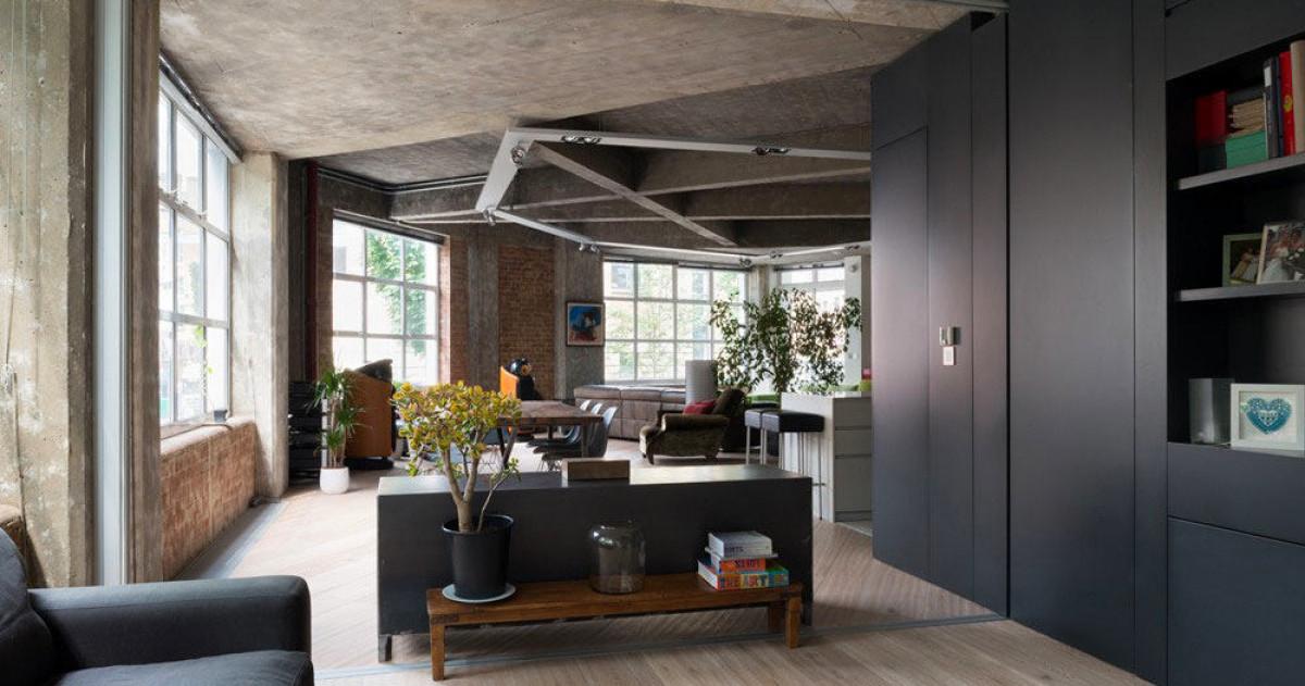 Как создать лофт из обычной квартиры: секрет бетонного потолка