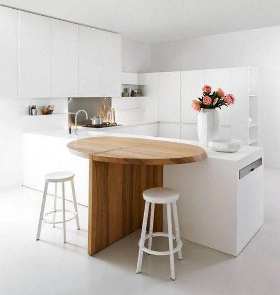 Кухня/столовая в  цветах:   Бежевый, Белый, Серый, Темно-зеленый.  Кухня/столовая в  стиле:   Минимализм.