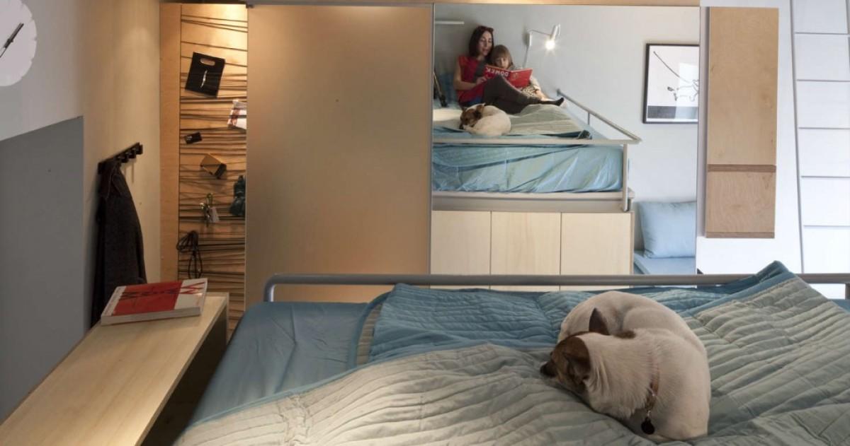 Как спланировать маленькую квартиру: нестандартный пример на 22 метрах