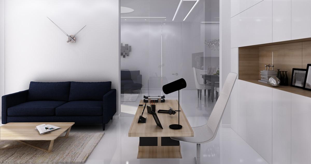 Нордический хай-тек с окнами в пол: квартира в Москве