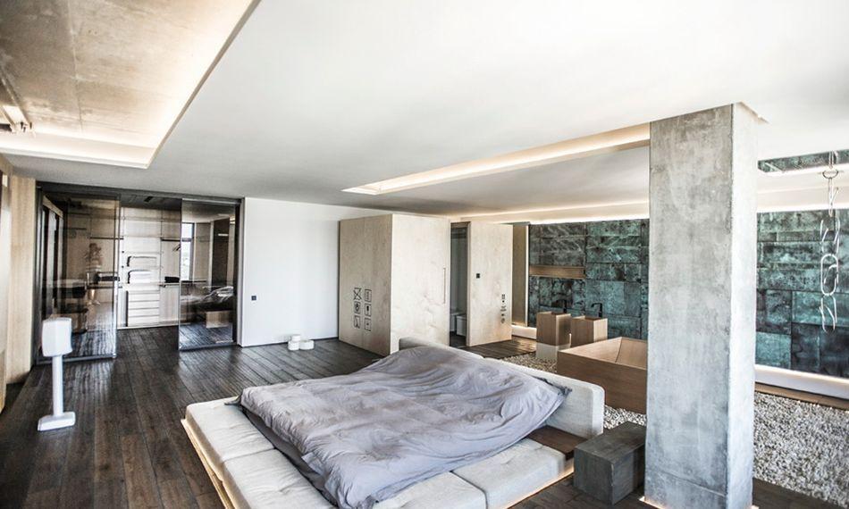 Гостиная, холл в цветах: черный, серый, светло-серый, белый, сине-зеленый. Гостиная, холл в стиле минимализм.