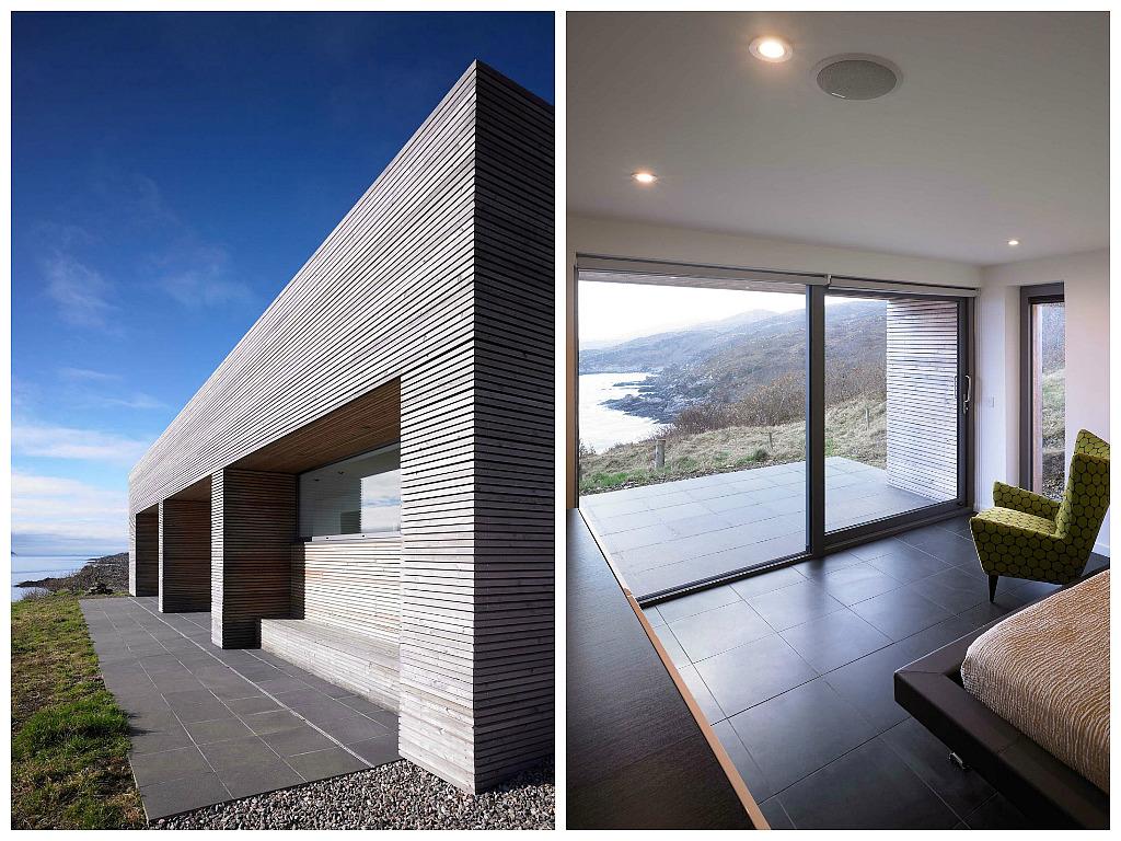 Архитектура в цветах: бирюзовый, черный, серый, светло-серый. Архитектура в стилях: минимализм, скандинавский стиль, экологический стиль.
