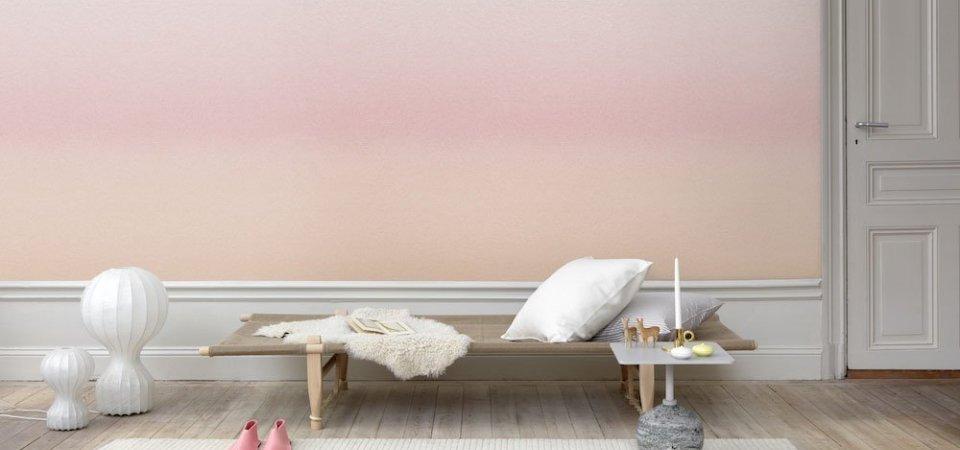 Обои цвета заката и рассвета: новинки шведских дизайнеров