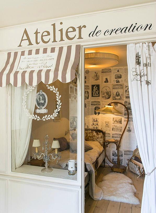 Мебель и предметы интерьера в цветах: серый, светло-серый, коричневый, бежевый. Мебель и предметы интерьера в стилях: прованс.