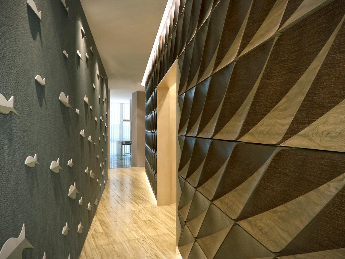Гостиная, холл в цветах: темно-коричневый, коричневый, бежевый. Гостиная, холл в стиле арт-деко.
