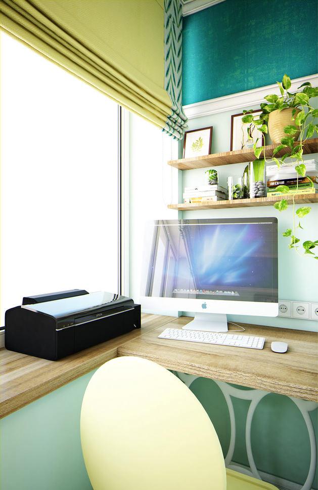 Мебель и предметы интерьера в цветах: голубой, черный, серый, светло-серый. Мебель и предметы интерьера в стиле эклектика.
