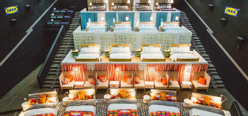 Спальный кинозал от ИКЕА, который «будит любовь»!