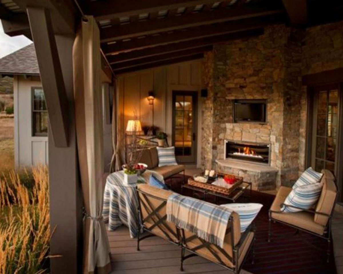 Балкон, веранда, патио в цветах: черный, серый, темно-коричневый, коричневый, бежевый. Балкон, веранда, патио в стиле экологический стиль.