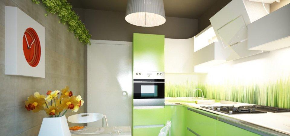 Цвет лайма: как сделать кухню яркой, но не вызывающей