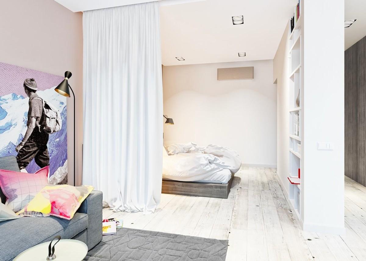 Гостиная, холл в цветах: желтый, серый, белый, бежевый. Гостиная, холл в стиле скандинавский стиль.