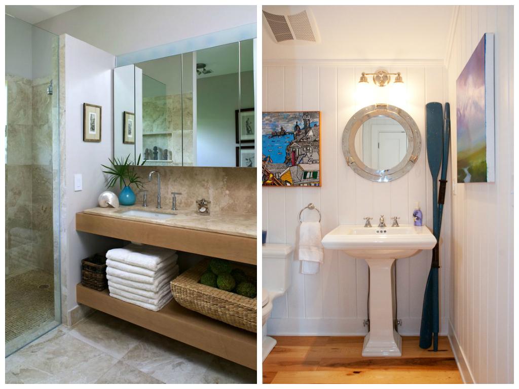 Туалет в цветах: белый, коричневый. Туалет в стиле средиземноморский стиль.