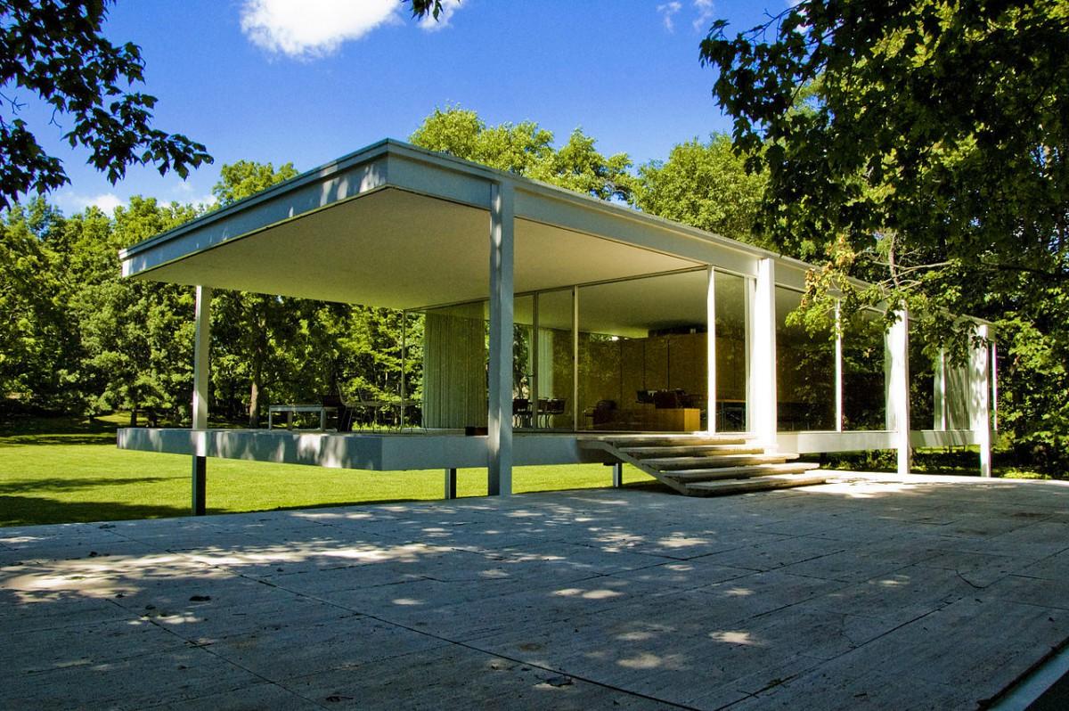 Архитектура в цветах: голубой, черный, серый, темно-зеленый, бежевый. Архитектура в стиле минимализм.