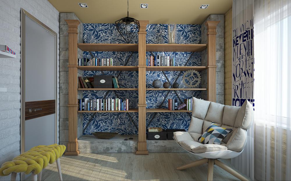 Мебель и предметы интерьера в цветах: серый, светло-серый, белый, лимонный, бежевый. Мебель и предметы интерьера в стиле эклектика.