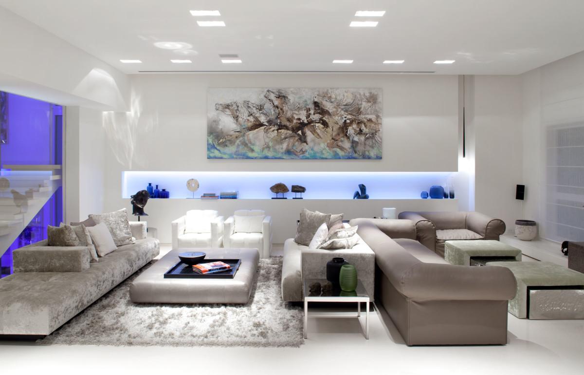 Гостиная, холл в цветах: серый, светло-серый, белый. Гостиная, холл в стиле минимализм.