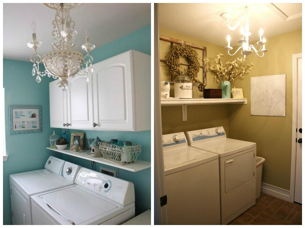 Подсобное помещение в цветах: голубой, белый, бежевый. Подсобное помещение в стиле американский стиль.
