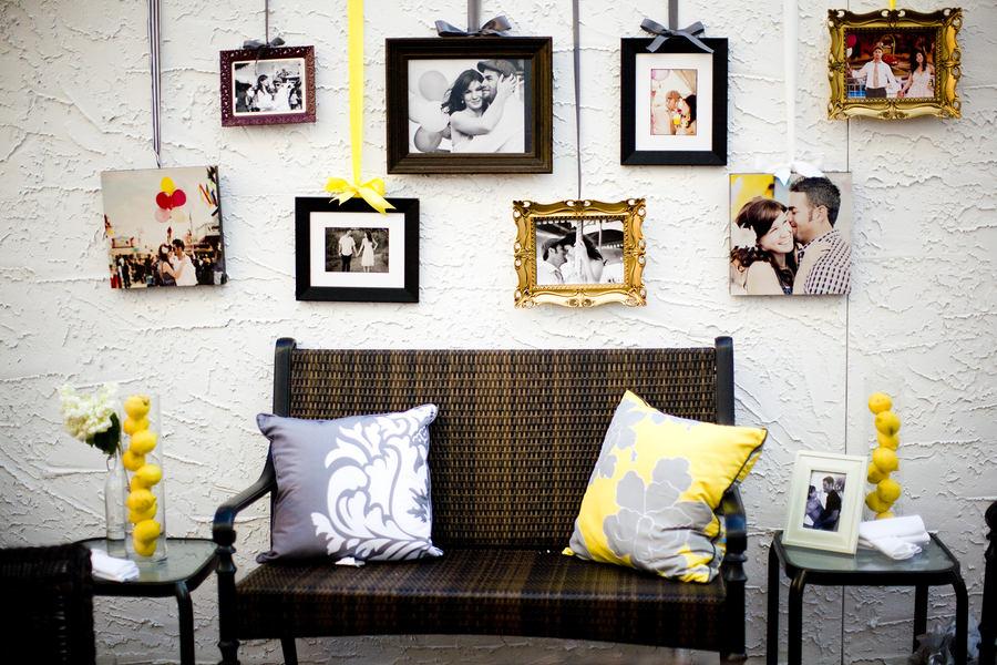 Декор в цветах: светло-серый, белый, лимонный, темно-коричневый. Декор в .