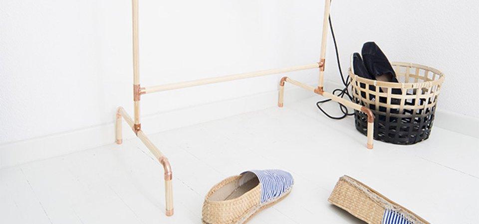 Напольная вешалка, которую можно сделать за 20 минут. Мастер-класс