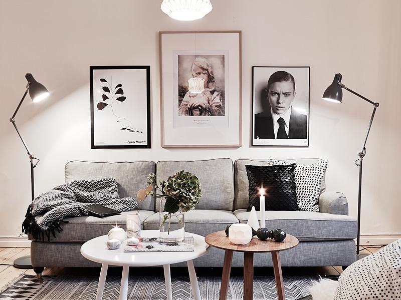 Мебель и предметы интерьера в цветах: черный, серый, белый, бежевый. Мебель и предметы интерьера в стилях: скандинавский стиль.