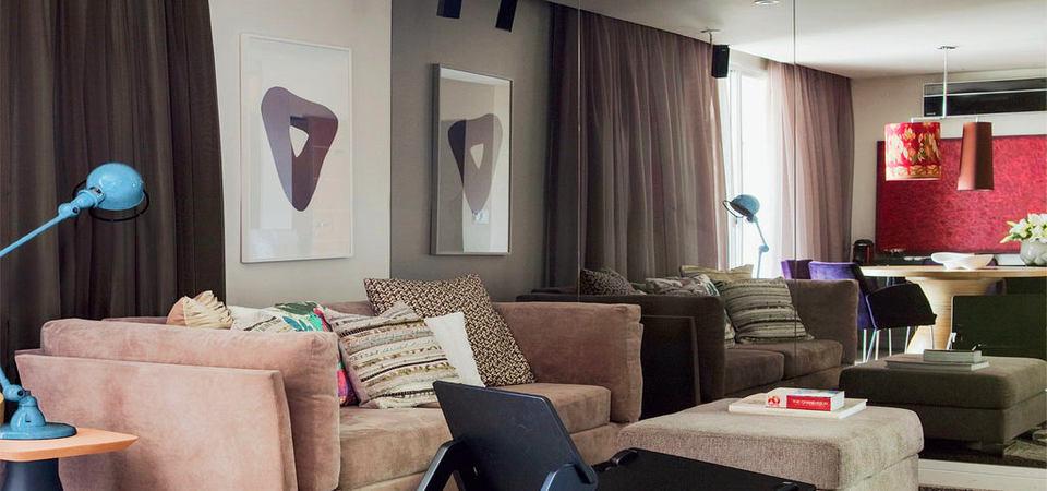 Маленькая квартира превращается в большую: 27 метров уюта в Бразилии