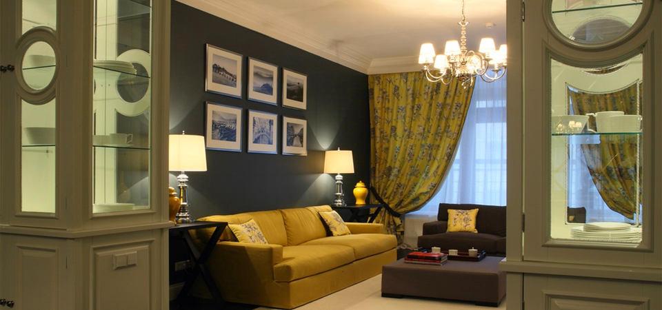 Классический стиль в современной квартире: пример из Москвы
