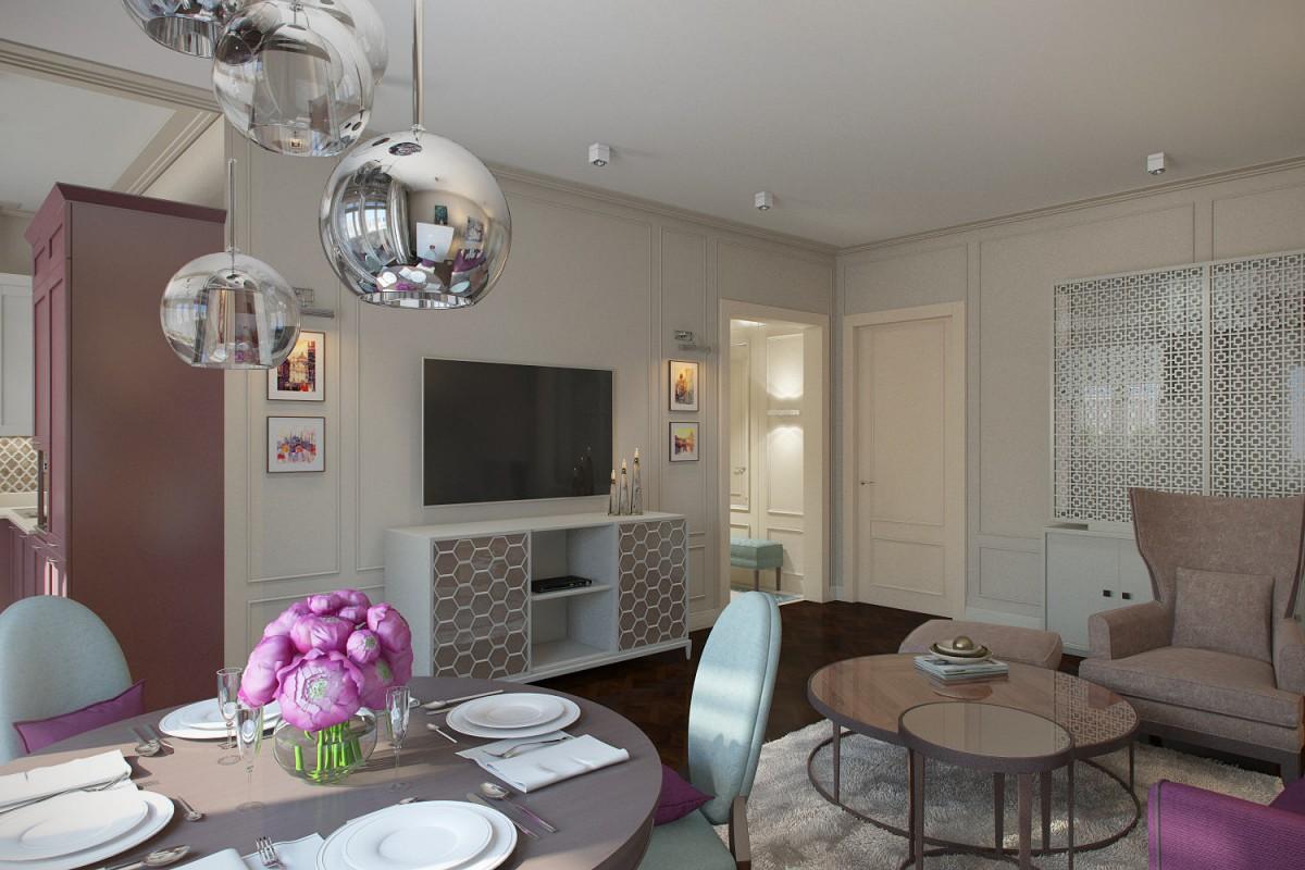 Мебель и предметы интерьера в цветах: серый, светло-серый, белый, сиреневый, темно-коричневый. Мебель и предметы интерьера в стиле арт-деко.