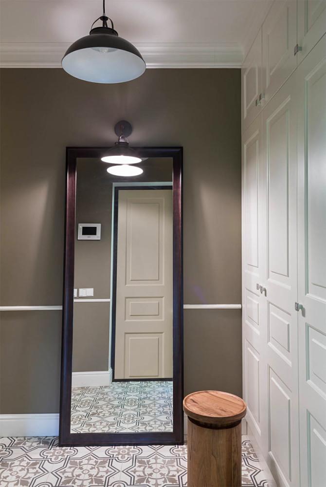 Мебель и предметы интерьера в цветах: серый, белый, темно-коричневый, коричневый. Мебель и предметы интерьера в стиле минимализм.