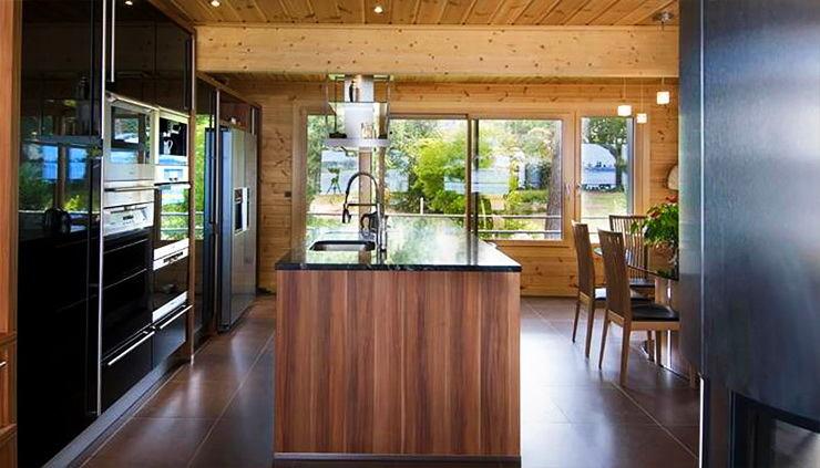 Кухня в цветах: серый, коричневый, бежевый. Кухня в стиле модерн и ар-нуво.