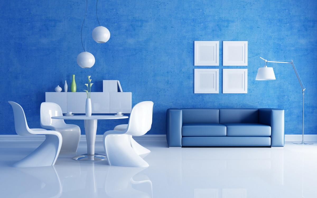 Декор в цветах: голубой, фиолетовый, белый. Декор в .