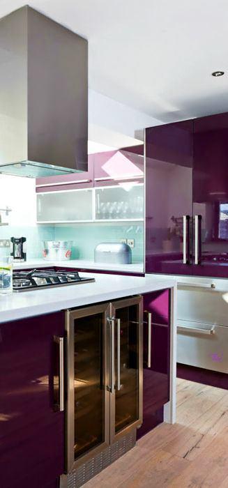 Кухня в цветах: бирюзовый, серый, светло-серый, сиреневый, темно-коричневый. Кухня в .