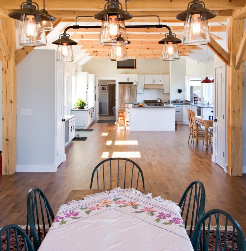 Кухня в цветах: желтый, серый, светло-серый, бежевый. Кухня в стилях: минимализм, хай-тек, эклектика.