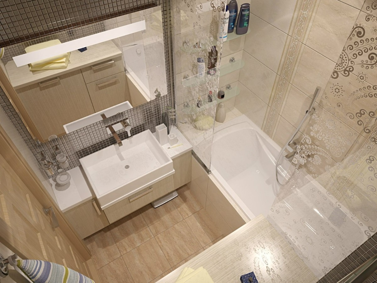 Туалет в цветах: серый, светло-серый, коричневый, бежевый. Туалет в .