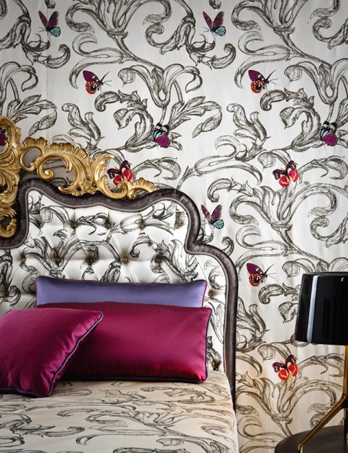 Мебель и предметы интерьера в цветах: фиолетовый, серый, светло-серый, белый, розовый. Мебель и предметы интерьера в стилях: французские стили.