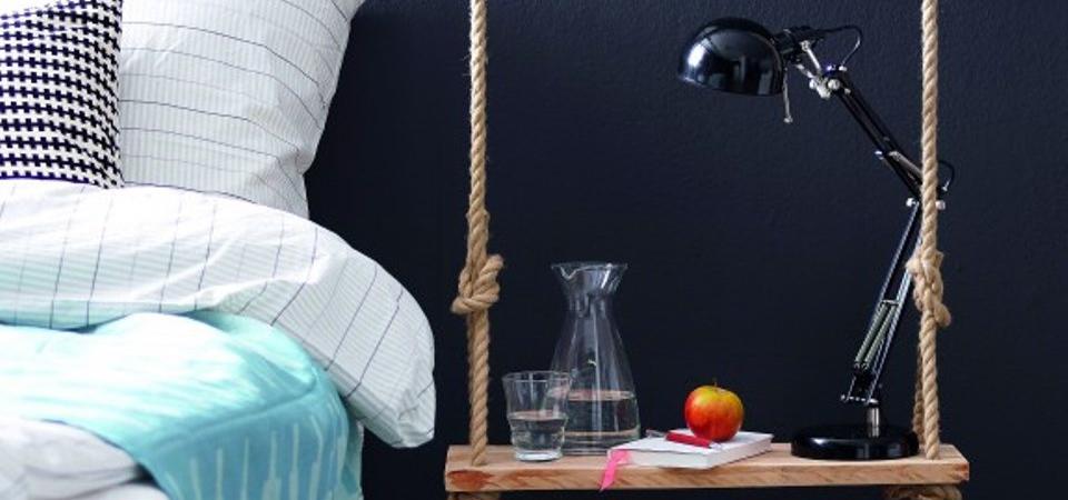 Самодельный прикроватный столик-качели: мастер-класс