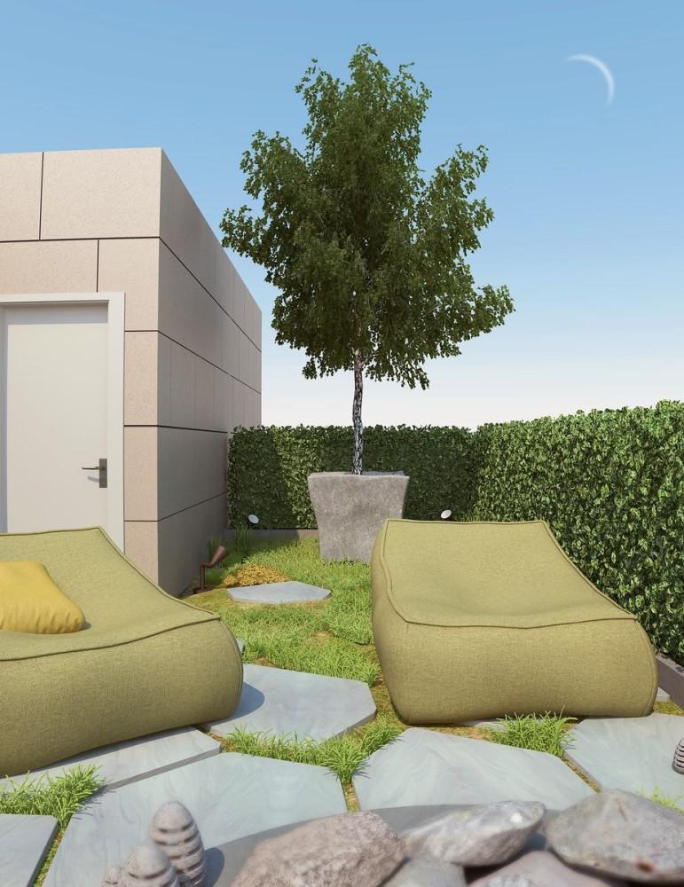 Балкон, веранда, патио в цветах: светло-серый, белый, темно-зеленый, бежевый. Балкон, веранда, патио в стилях: минимализм, экологический стиль.
