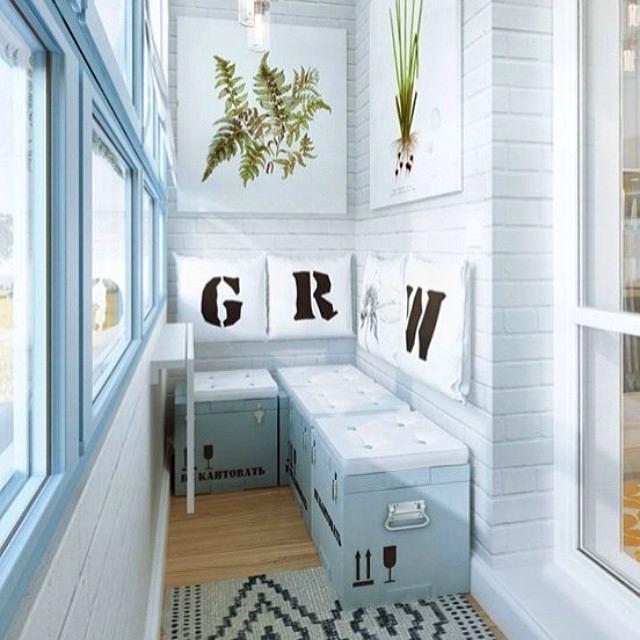 Балкон, веранда, патио в цветах: голубой, бирюзовый, серый, светло-серый. Балкон, веранда, патио в стилях: американский стиль.