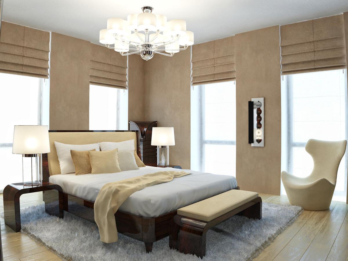 Мебель и предметы интерьера в цветах: темно-коричневый, коричневый, бежевый. Мебель и предметы интерьера в стилях: арт-деко.