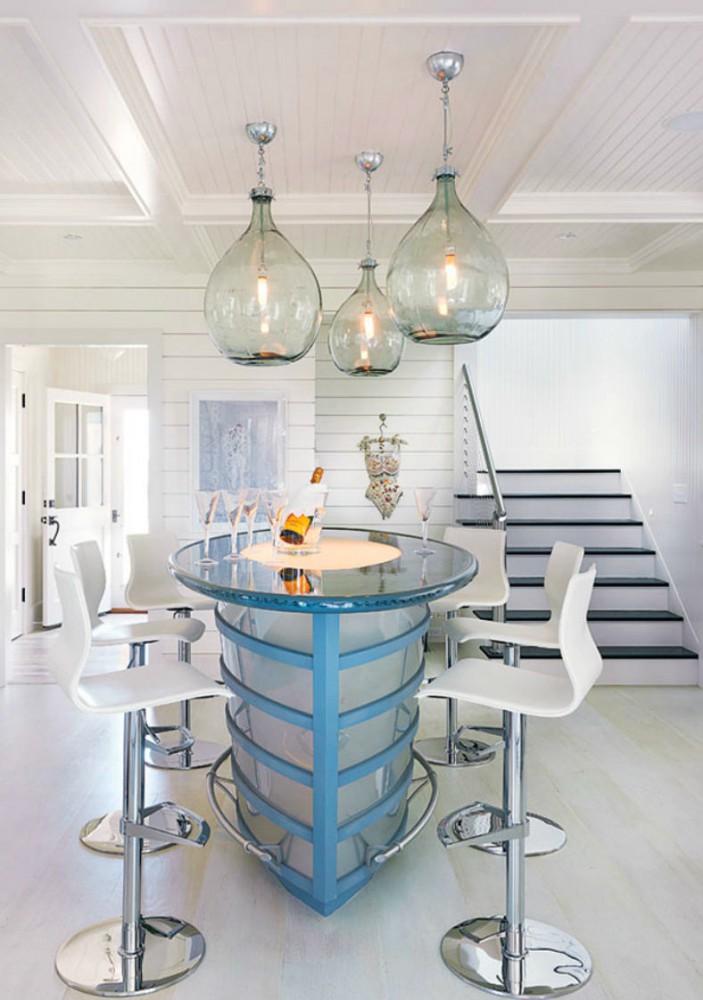 Архитектура в цветах: серый, светло-серый, белый, сине-зеленый. Архитектура в стилях: американский стиль, экологический стиль.