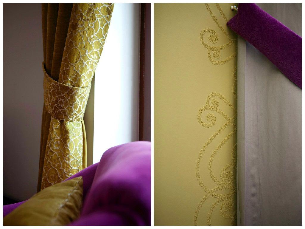 Декор в цветах: серый, светло-серый, белый, бежевый. Декор в стиле модерн и ар-нуво.