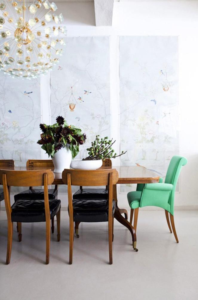 Мебель и предметы интерьера в цветах: зеленый, черный, серый, белый, коричневый. Мебель и предметы интерьера в стиле лофт.