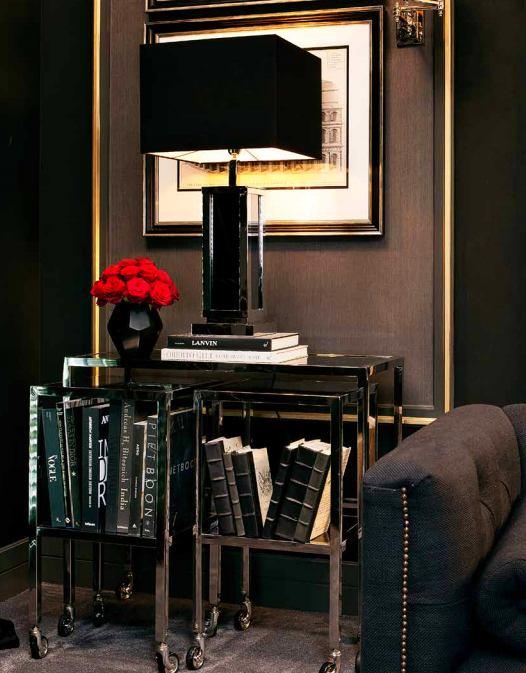 Мебель и предметы интерьера в цветах: черный, темно-коричневый. Мебель и предметы интерьера в стилях: арт-деко.