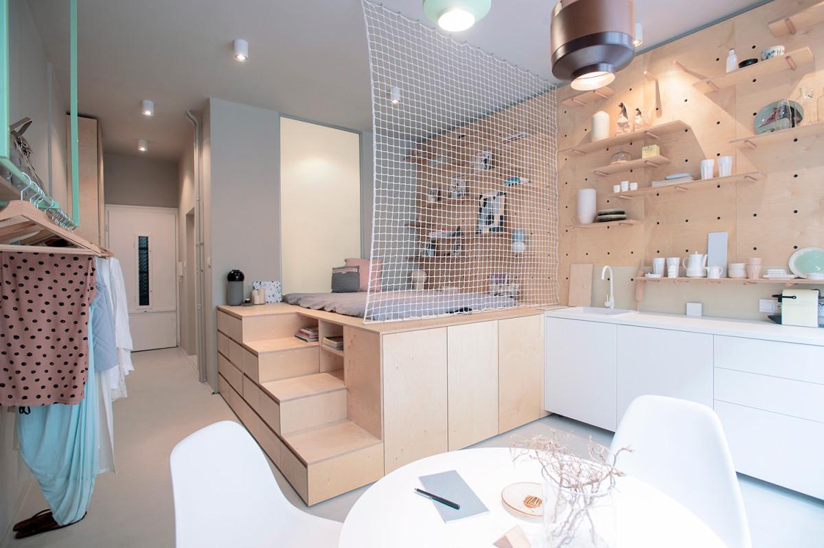 Крошечная, идеально организованная квартира, где использован каждый сантиметр