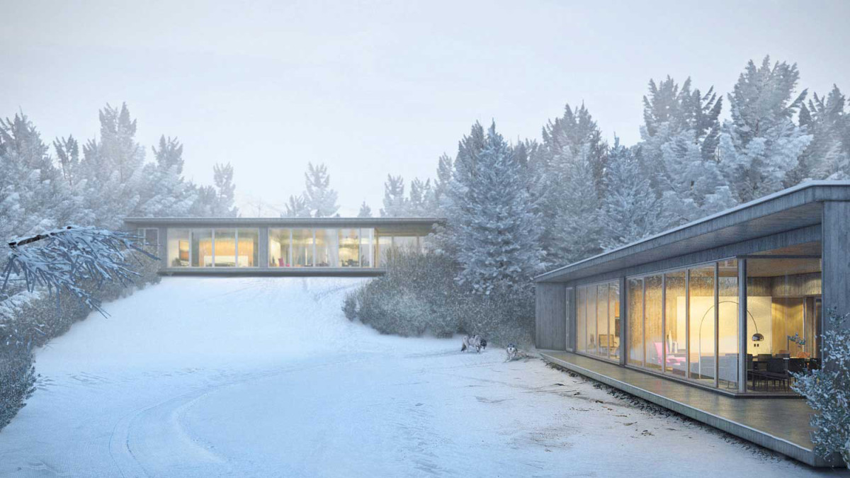 Продвинутая архитектура для холодных зим: одноэтажный дом с модной отделкой