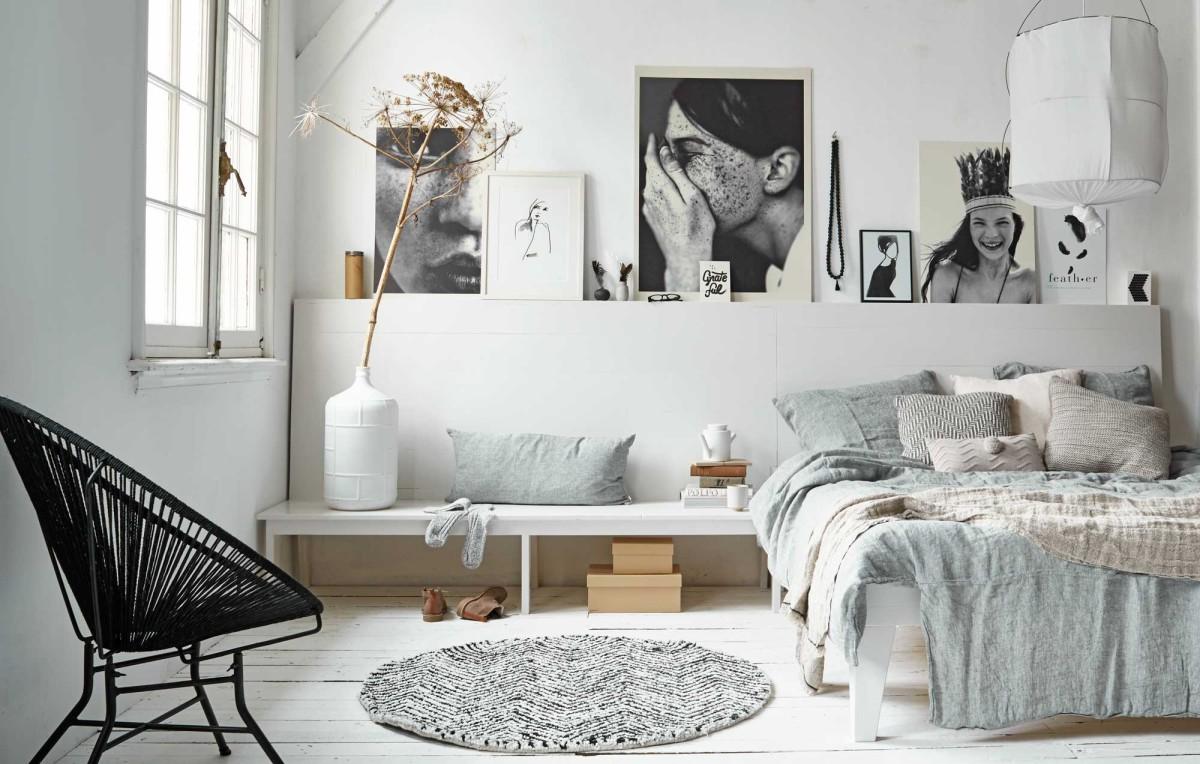 25 способов украшения стены за кроватью в спальне