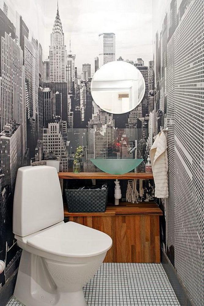 Туалет в  цветах:   Бежевый, Белый, Светло-серый, Серый, Черный.  Туалет в  стиле:   Минимализм.