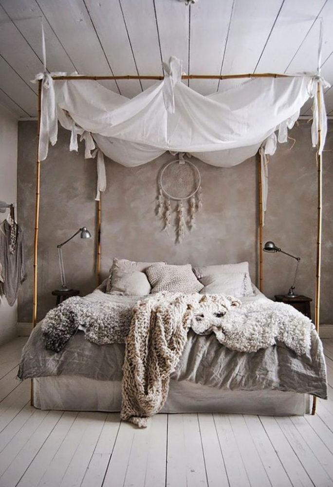 Спальня в  цветах:   Бежевый, Светло-серый, Серый, Темно-коричневый.  Спальня в  стиле:   Кантри.