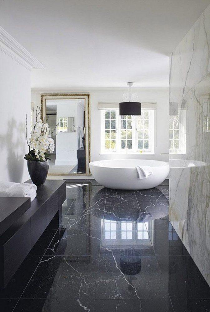 Ванная в  цветах:   Бежевый, Светло-серый, Серый, Синий, Черный.  Ванная в  стиле:   Минимализм.