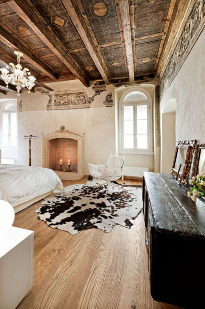 Спальня в  цветах:   Бежевый, Коричневый, Светло-серый, Темно-коричневый, Черный.  Спальня в  стиле:   Эклектика.