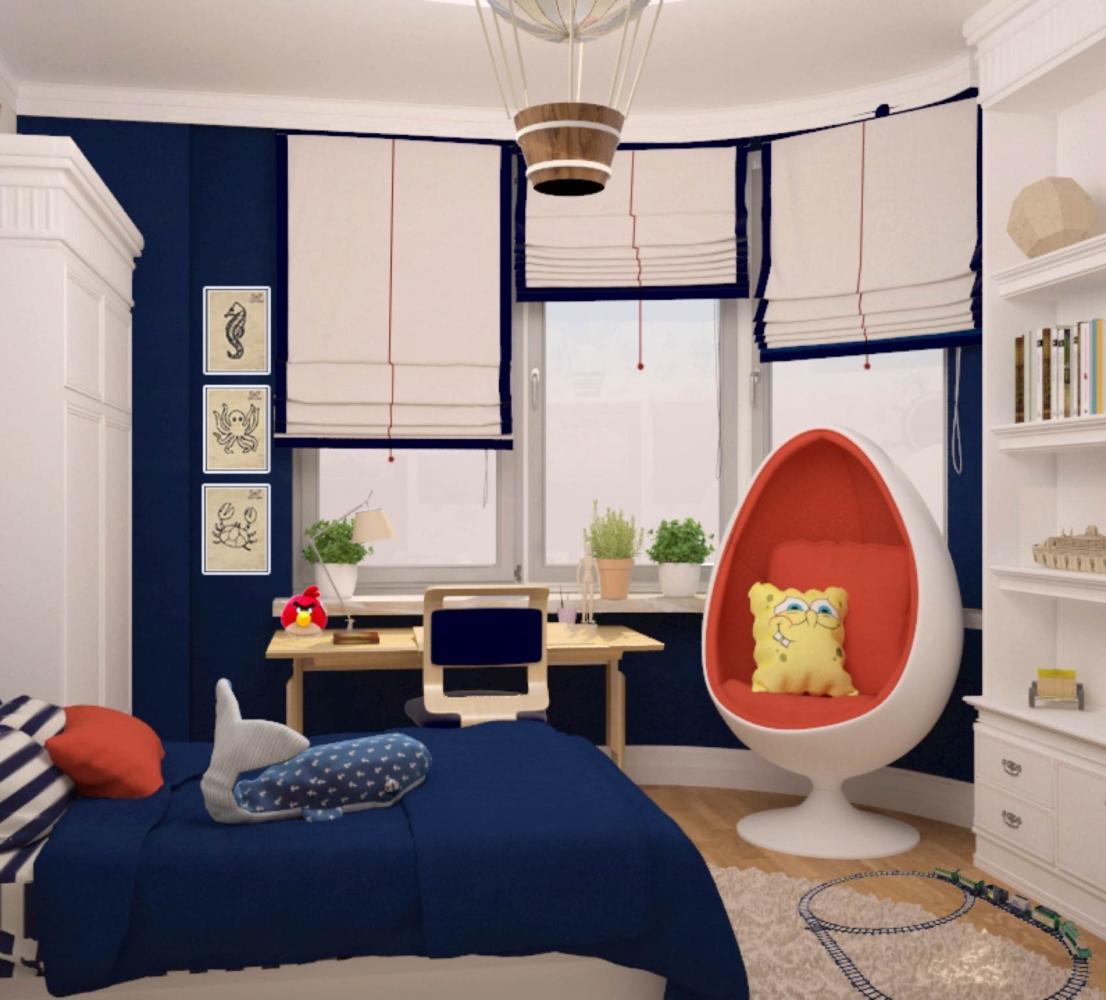 Дизайн небольшой детской комнаты для мальчика