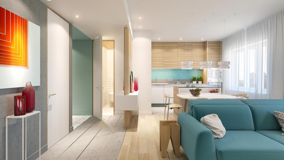 Квартира в скандинавском духе для молодой пары: 94 метра стиля