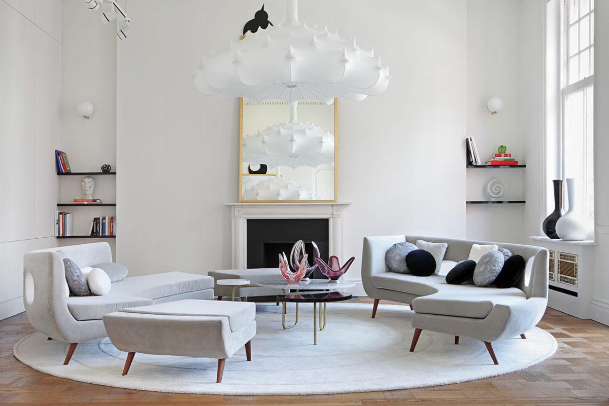 Лондонские апартаменты, построенные на контрасте цвета и стиля